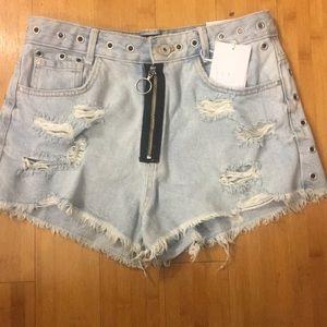 Zara TRF Demin Jean Shorts
